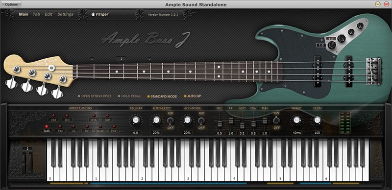 ample bass plugin vst interface