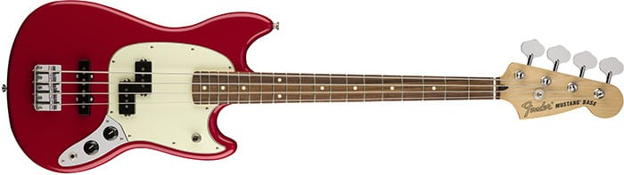 fender mustang short scale bass