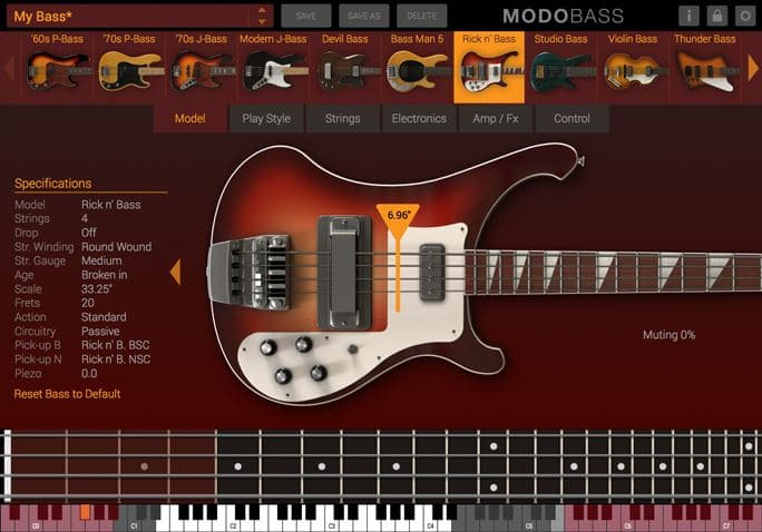 best bass guitar vst modo