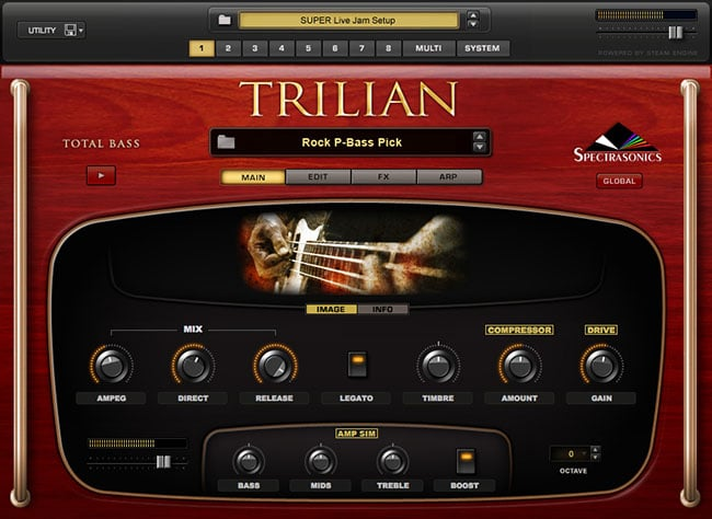 trilian bass interface