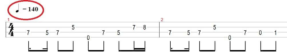 bass tempo marker example
