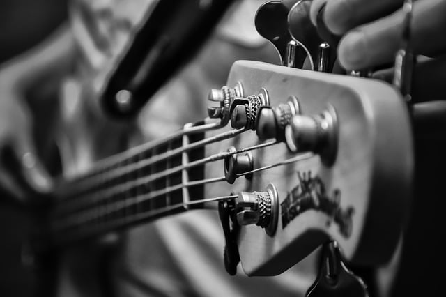 how to tune a bass guitar headstock