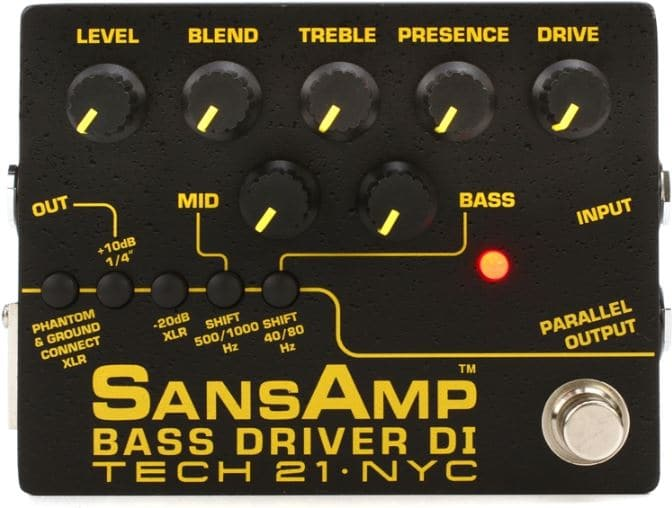 sansamp preamp for bass